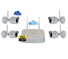 ο KIT περιλαμβάνει 1 τεμ. WIFI NVR 4ch (720P) 2004/100 4 τεμ. WIFI IP κάμερες (720P) IP-100  NVR 4ch 720Ρ με ενσωματωμένη κάρτα WIFI  4 κάμερες IP 720P 3.6mm προρυθμισμένες με το NVR  Εφαρμογή για iphone / Android / PC / MAC / FREE IP PRO  Πολύ εύκολη σύνδεση στο Internet μέσω Cloud  Περιλαμβάνονται 4 τροφοδοτικά καμερών 12V/500mA  Το NVR δέχεται HDD μέχρι 6ΤΒ