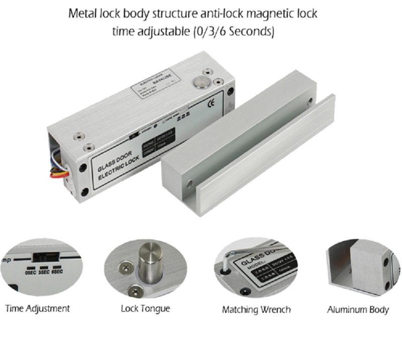 Frameless-Glass-Door-12V-Electric-Bolt-Lock 5818C